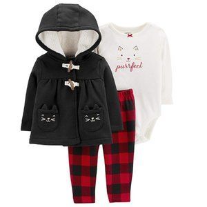 Carter's Baby Girl Purrfect Kitty 3-Piece Set